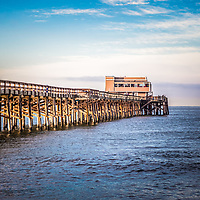 Newport Pier Photo in Newport Beach California. Newport Pier is a popular attraction on Balboa Peninsula in Orange County Southern California.