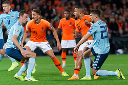 10-10-2019 NED: Netherlands - Northern Ireland, Rotterdam<br /> UEFA Qualifying round ­Group C match between Netherlands and Northern Ireland at De Kuip in Rotterdam / Memphis Depay #10 of the Netherlands scores 1-1