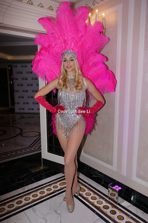 London, UK. 14th October, 2017. The Pink Ribbon dancers attends the London's Dorchester Hotel hosts Breast Cancer Campaign's Pink Ribbon Ball 2017.