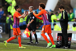 Leroy Sane of Manchester City replaces Nolito - Mandatory by-line: Matt McNulty/JMP - 18/02/2017 - FOOTBALL - The John Smith's Stadium - Huddersfield, England - Huddersfield Town v Manchester City - Emirates FA Cup fifth round