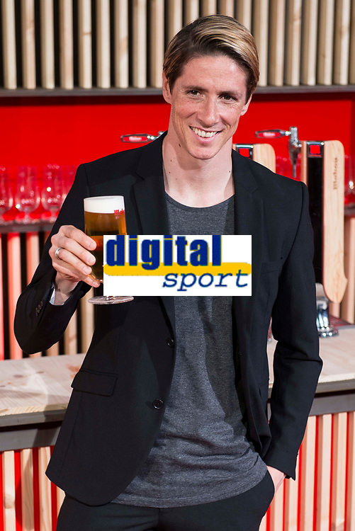 Atletico de Madrid's player Fernando Torres during the presentation of the new spot of  Mahou 5 Estrellas at Capitol Cinemas in Madrid. March 29, 2016. (ALTERPHOTOS/Borja B.Hojas)