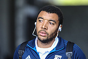Troy Deeney of Watford arrives at the stadium, before the Premier League match between Swansea City and Watford at the Liberty Stadium, Swansea, Wales on 23 September 2017. Photo by Andrew Lewis.