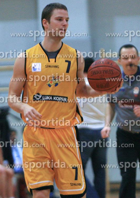 Grega Nachbar at 12th Round of UPC League basketball match between KK Luka Koper and KK Zlatorog Lasko, on May 2, 2009, in Arena Bonifika, Koper, Slovenia. Zlatorog won the match 72:71. (Photo by Vid Ponikvar / Sportida)