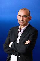 Edinburgh International Book Festival 2013 portrait of Raja Shehadeh at Charlotte Square Garden <br /> <br /> Pic by Pako Mera