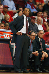 Feb 4, 2012; Stanford CA, USA;  Stanford Cardinal head coach Johnny Dawkins on the sidelines against the Arizona Wildcats during the first half at Maples Pavilion.  Mandatory Credit: Jason O. Watson-US PRESSWIRE