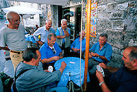 Italian men playing cards, Gubbio, Umbria, Italy
