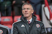 Nigel Adkins (Sheffield United) during the Sky Bet League 1 match between Sheffield Utd and Coventry City at Bramall Lane, Sheffield, England on 13 December 2015. Photo by Mark P Doherty.