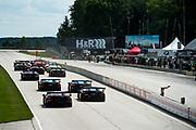 August 4-6, 2017: Lamborghini Super Trofeo at Road America. start of race 1 at Road America