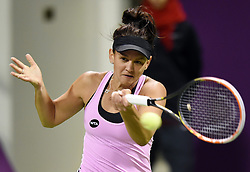 Casey Dellacqua of Australia returns the ball during the first round match against Venus Williams of the United States in the WTA Qatar Open tennis tournament in Doha, Qatar, Feb. 23, 2015. Casey Dellacqua lost 1-2. EXPA Pictures © 2015, PhotoCredit: EXPA/ Photoshot/ Chen Shaojin<br /> <br /> *****ATTENTION - for AUT, SLO, CRO, SRB, BIH, MAZ only*****