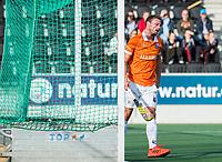 AMSTELVEEN - Roel Bovendeert (Bldaal) scoort   tijdens de oefenwedstrijd tussen Amsterdam en Bloemendaal heren.   COPYRIGHT  KOEN SUYK