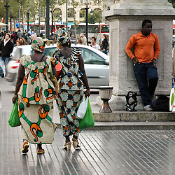 Cultures from all over the world come to visit Barcleona and La Rambla.