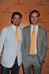 Left to right, brothers EDWARD TAYLOR and GEORGE TAYLOR at the Veuve Clicquot Mint Polo in The Park after party held at The Hurlingham Club, Ranelagh Gardens, London SW6 on 5th June 2011.