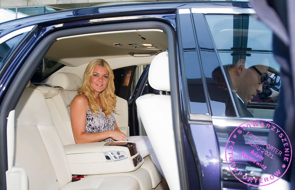 Agnieszka Radwanska in Rolls Royce on her way to meeting in Belvedere Palace in Warsaw, Poland.<br /> <br /> Poland, Warsaw, July 08, 2013<br /> <br /> Picture also available in RAW (NEF) or TIFF format on special request.<br /> <br /> For editorial use only. Any commercial or promotional use requires permission.<br /> <br /> Photo by © Adam Nurkiewicz / Mediasport