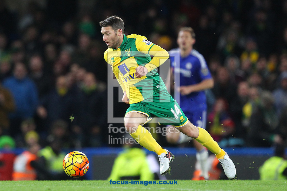 Wes Hoolahan of Norwich in action during the Barclays Premier League match at Stamford Bridge, London<br /> Picture by Paul Chesterton/Focus Images Ltd +44 7904 640267<br /> 21/11/2015