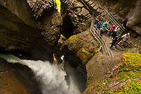 Trummelbach Waterfalls in the Lauterbrunnen Valley, Canton Bern, Switzerland