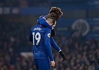 Football - 2019 / 2020 Premier League - Chelsea vs. Aston Villa<br /> <br /> Tammy Abraham (Chelsea FC) congratulates goalscorer Mason Mount (Chelsea FC) at Stamford Bridge <br /> <br /> COLORSPORT/DANIEL BEARHAM