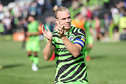 Forest Green Rovers Joseph Mills(23) applauds the supporters at the end of the match during the EFL Sky Bet League 2 match between Forest Green Rovers and Grimsby Town FC at the New Lawn, Forest Green, United Kingdom on 17 August 2019.