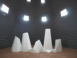Complex Forms No.8 by Sol DeWitt at Bonnefanten Museum in Maastricht , Limburg , The Netherlands