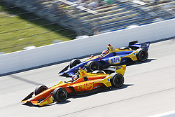 July 8, 2018 - Newton, Iowa, United States of America - ZACH VEACH (26) of the United Stated battles for position during the Iowa Corn 300 at Iowa Speedway in Newton, Iowa. (Credit Image: © Justin R. Noe Asp Inc/ASP via ZUMA Wire)