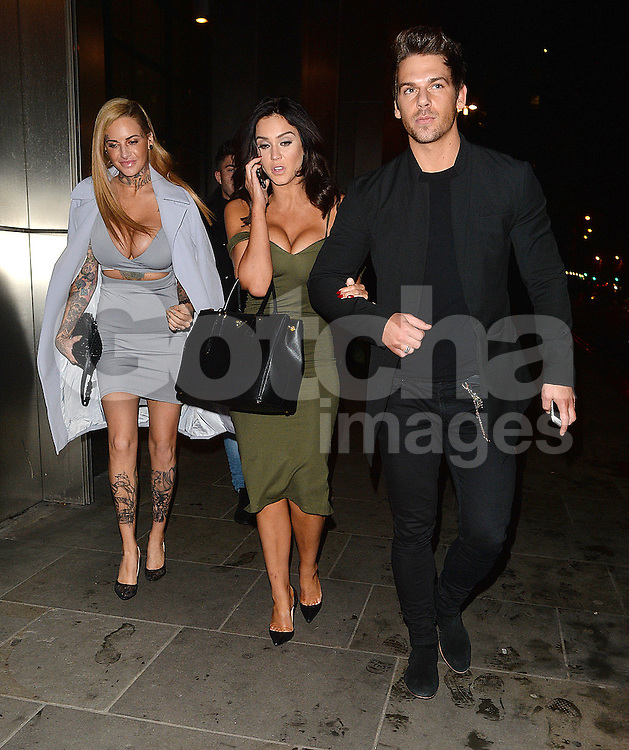 Vicky Pattison Jemma Lucy and Joss Mooney at SUSHISAMBA in London, UK 14/12/2015<br />
