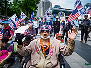 09 JUNE 2018 - SEOUL, SOUTH KOREA: A man at a pro-American rally in downtown Seoul. Participants said they wanted to thank the US for supporting South Korea and they hope the US will continue to support South Korea. Many were also opposed to ongoing negotiations with North Korea because they don't think Kim Jong-un can be trusted to denuclearize or to not attack South Korea.    PHOTO BY JACK KURTZ