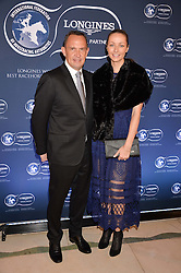 Champion trainer Chris Waller & Stephanie Waller at the 4th Longines World's Best Racehorse Ceremony, Claridge's, Brook Street, London England. 24 January 2017.