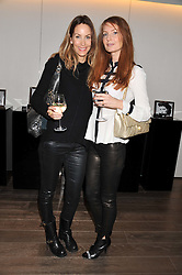 Left to right, LISA BUTCHER and ANGELA RADCLIFFE at a lunch hosted by Harrods' and Erno Laszlo to celebrate the launch of the Erno Laszlo Hollywood Collection held in The Penthouse, Harrods, Knightsbridge, London on 25th April 2012.