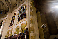 25 November, 2008. New York, NY. The organ at the Cathedral of St. John the Divine, heavily damaged in a fire in 2001, has been rebuilt. The organ has been tuned for the last couple of weeks.  ©2008 Gianni Cipriano for The New York Times<br /> cell. +1 646 465 2168 (USA)<br /> cell. +1 328 567 7923 (Italy)<br /> gianni@giannicipriano.com<br /> www.giannicipriano.com