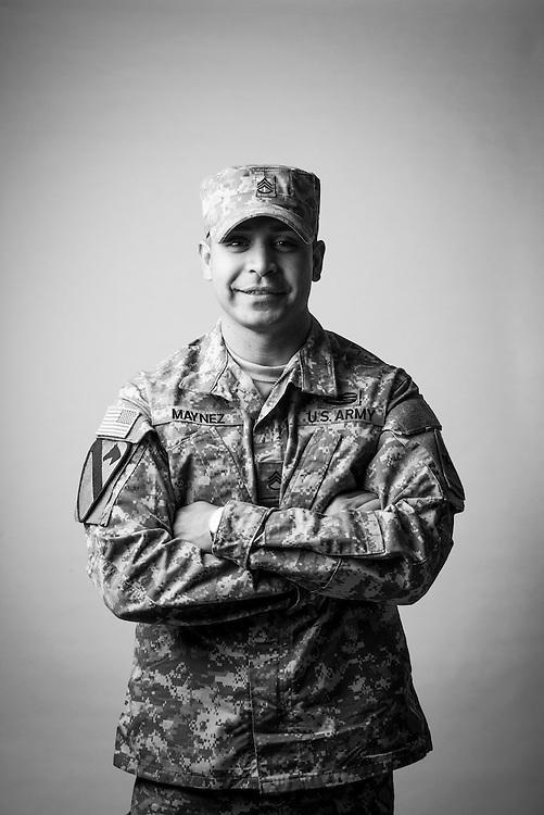 Alberto Maynez<br /> Army<br /> E-6<br /> 25N<br /> July 2, 2002 - Present<br /> <br /> Veterans Portrait Project<br /> El Paso, TX