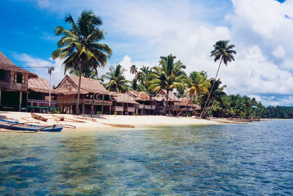 Beach houses at Nias, Indonesia