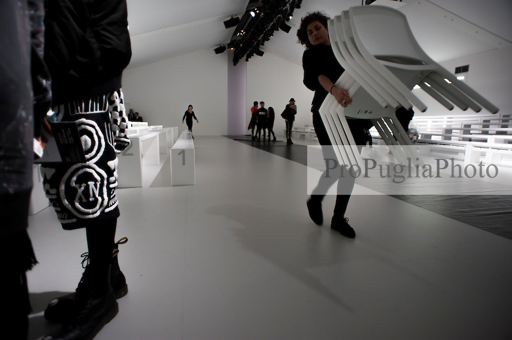 London 16 September 2013<br /> KTZ Catwalk at London Fashion Week<br /> DESIGNER NAMES: Marjan Pejoski (Creative Director) and Koji Maruyama (Head of Design).<br /> <br /> BACKGROUND: Following the success of Marjan Pejoski's own brand, KTZ arose mutually by himself and Sasko Bezovski – Pejoski studied fashion design at London's Central St Martins University. It was shortly after the launch of KTZ that Maruyama was made head of design by Pejoski.<br /> <br /> After touring the world as a renowned DJ throughout the 1980's, Bezovski generated the umbrella of retail stores 'Kokon to Zai' in London and Paris, combining the passion for music and fashion that has birthed a renowned cult hybrid since opening of business in 1996 as a music store; a space dedicated to all creative artists. Bezovski manoeuvres operational, commercial and financial areas throughout Kokon To Zai.<br /> <br /> Sasko Bezovski<br /> sasko@k-t-z.co.uk<br /> Tel: +44 (0) 20 7434 1316<br /> Mobile: +44 (0) 7876 716066<br /> <br /> Press Contact<br /> <br /> Kusi Kubi<br /> press@k-t-z.co.uk<br /> Tel: +44 (0) 20 8960 3736