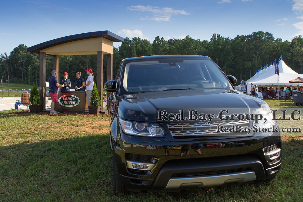 A general view of atmosphere at the 2016 Land Rover Great Meadow International on Friday, July 8, 2016, at the Great Meadow Foundation in The Plains, VA. with the 2016 Rand Rover Sport.