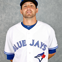 March 2, 2012; Dunedin, FL, USA; Toronto Blue Jays relief pitcher Evan Crawford (46) poses for a portrait during photo day at Florida Auto Exchange Stadium.  Mandatory Credit: Derick E. Hingle-US PRESSWIRE