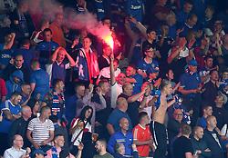 Rangers fans let off flares inside Hillsborough - Mandatory by-line: Robbie Stephenson/JMP - 30/07/2017 - FOOTBALL - Hillsborough - Sheffield, England - Sheffield Wednesday v Rangers - Pre-season friendly