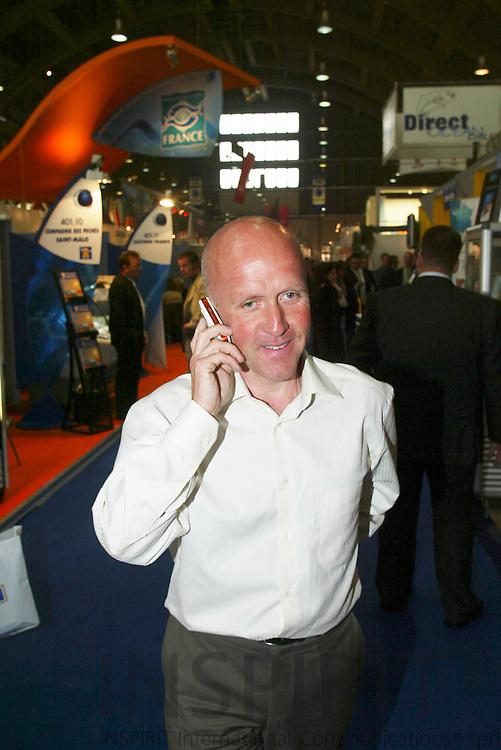 BRUSSELS - BELGIUM - 10 MAY 2006 -- Seafood 2006 Exhibition in Brussels. -- Atle EIDE, Marine Harvest. PHOTO: ERIK LUNTANG /