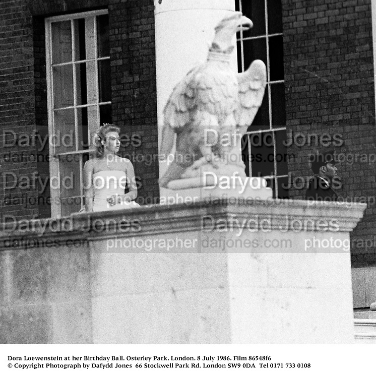 Dora Loewenstein at her Birthday Ball. Osterley Park. London. 8 July 1986. Film 86548f6<br />© Copyright Photograph by Dafydd Jones<br />66 Stockwell Park Rd. London SW9 0DA<br />Tel 0171 733 0108