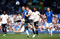 Football - 2018 / 2019 Premier League - Everton vs Manchester United<br /> <br /> at Goodison ParkFootball - 2018 / 2019 Premier League - Everton vs Manchester United<br /> <br /> Gylfi Sigurdsson of Everton and Nemanja Matic of Manchester United at Goodison Park