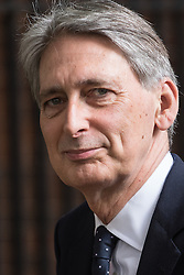 Downing Street, London, June 14th 2016. Foreign Secretary Philip Hammond leaves  10 Downing Street after attending the weekly cabinet meeting.