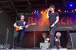 July 3, 2018 - Milwaukee, Wisconsin, U.S - JOSEPH MORINELLI and DANIEL ARMBRUSTER of Joywave during Summerfest Music Festival at Henry Maier Festival Park in Milwaukee, Wisconsin (Credit Image: © Daniel DeSlover via ZUMA Wire)