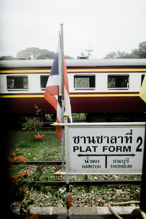 Station on the outskirs of Bangkok, Eastern & Oriental Train