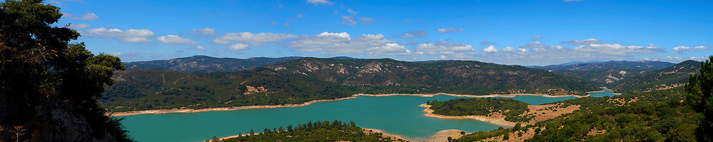 View of Gudarranque's Lake from Castellar de la Frontera Castle in Cadiz, Spain