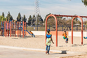 Kids on Playground Equipment at Earvin Magic Johnson Recreation Area