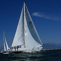 The sailboats participate in 2009 Regatta    of the coast of La Cruz Mexico.
