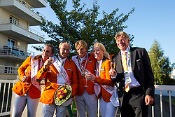 Team NED won bronze in the team test - Alltech FEI World Equestrian Games™ 2014 - Normandy, France.<br /> © Hippo Foto Team - Leanjo De Koster<br /> 31-08-14