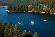 Boats on Payette Lake, McCall, Idaho