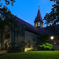 Wellesley College, featuring the Houghton Chapel and Multifaith Center on a stunningly beautiful night at twilight. Wellesley College is a private, women's, liberal-arts college located in the town of Wellesley, Massachusetts and it is ranked the third best liberal arts college in the United States. Notable alumnae include Hillary Clinton, Madeleine Albright, Soong Mei-ling, Cokie Roberts, and Diane Sawyer. It's most famous student is Hillary Rodham Clinton, Class of 1969. Hillary Rodham Clinton is currently running for president of the United States aiming to make history and becoming the first female US president. <br />
