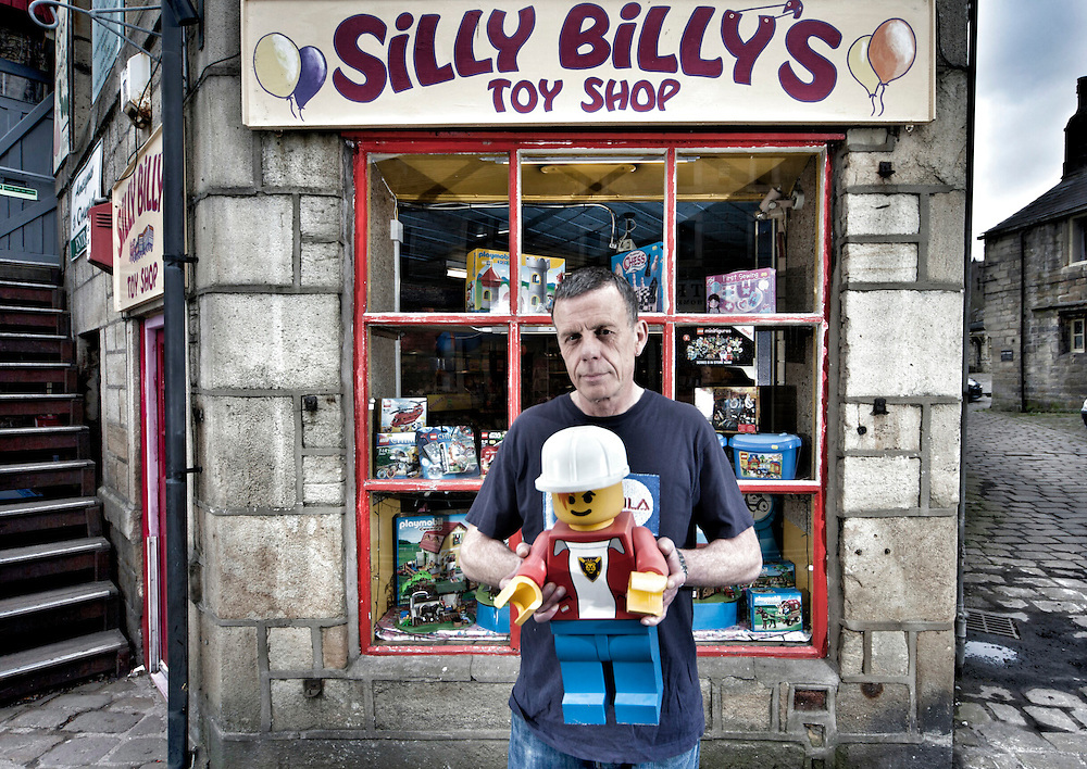 Hebden Bridge - Shopkeepers in the Yorkshire Pennine Town of Hebden Bridge a year after floods devastated the town centre.