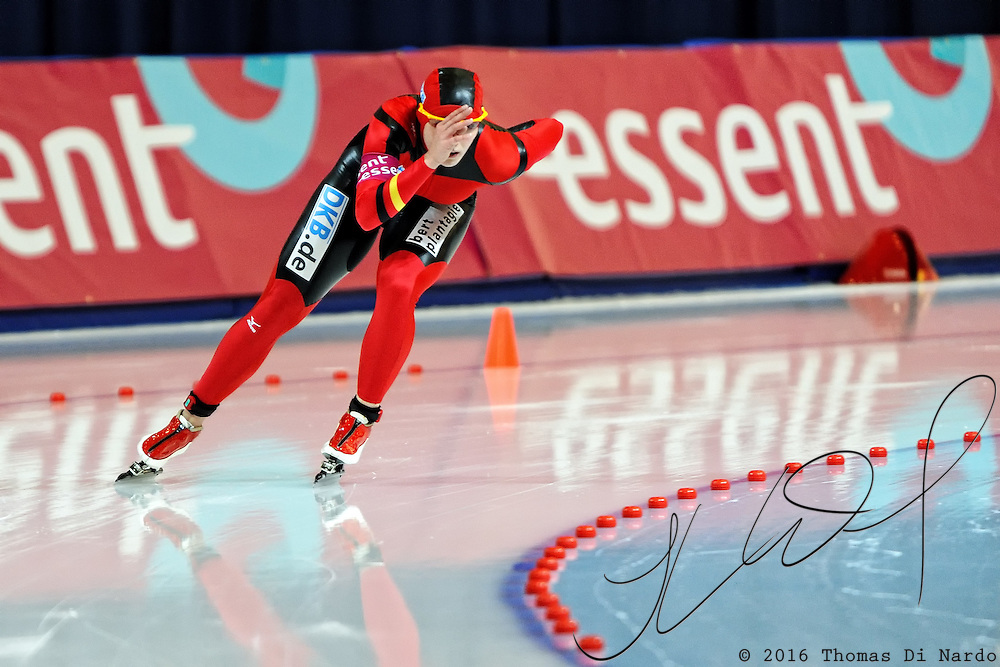 Heike Hartmann (GER) competes in the ladies 1000m event at the 2009 Essent ISU World Single Distances Speed Skating Championships.
