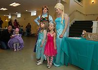 Anna and Elsa Tea Party at Gilford Community Center.  Karen Bobotas for the Laconia Daily Sun