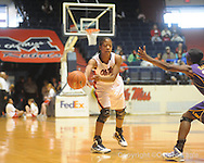 "Ole Miss's Bianca Thomas (45) vs. LSU on Sunday, January 17, 2010 at the C.M. ""Tad"" Smith Coliseum in Oxford, Miss. Bianca Thomas scored 42 points, a C.M. ""Tad"" Smith record for a woman's game, in the Lady Rebels 80-71 win."